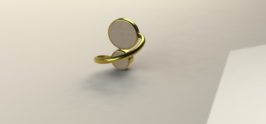 Magnetic ring rendered Solidworks drawing back