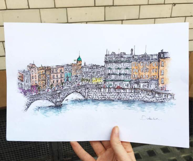 Commissioned drawing of Dublin